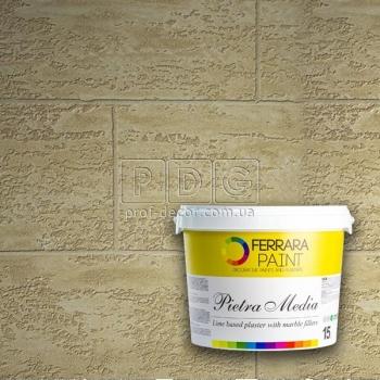 Pietra Media (П'єтра Медіа декоративна штукатурка) Ferrara 15кг