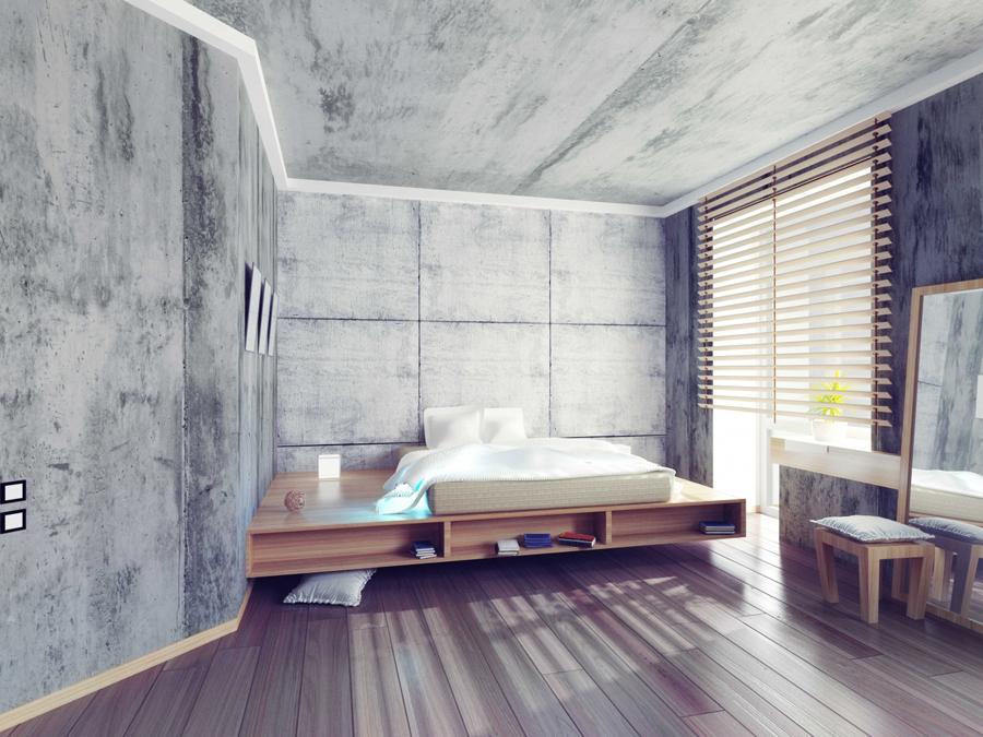 Декоративна вапняна штукатурка з ефектом «бетону»